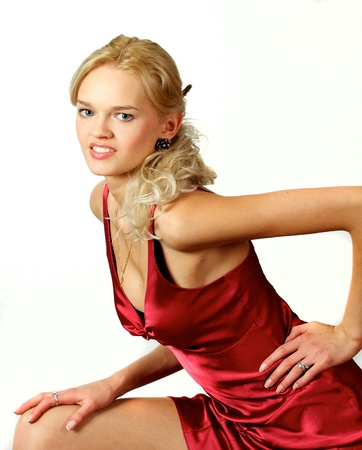 Young, beautiful, harmonous, blonde sexual Stock Photo - 17064798