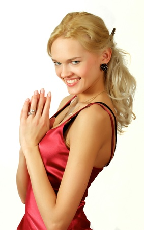 Young, beautiful, harmonous, blonde sexual Stock Photo - 17064884