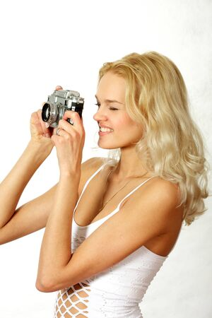 The young, beautiful blonde Stock Photo - 17065608