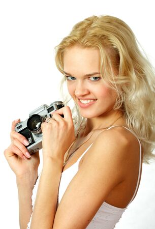 The young, beautiful blonde Stock Photo