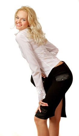Young, beautiful, harmonous, blonde sexual Stock Photo - 16904848