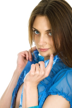 allocated: Picture of the young, beautiful  girl Stock Photo