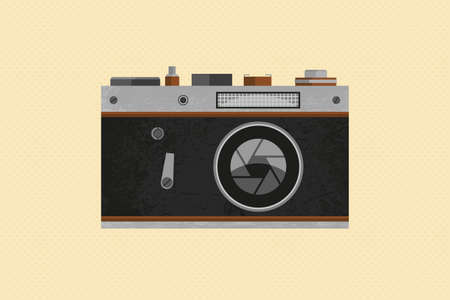 Photo Camera Retro Standard-Bild - 132959450
