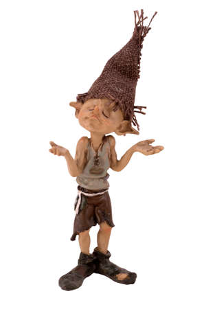 Figurine boy troll Stock Photo