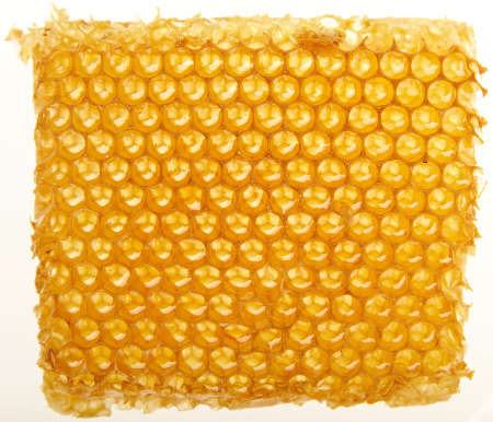 Yellow honeycomb wax cell detail texture background photo