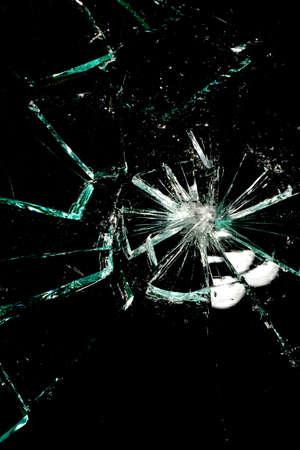 broken glass on a black background Stock Photo - 7842665