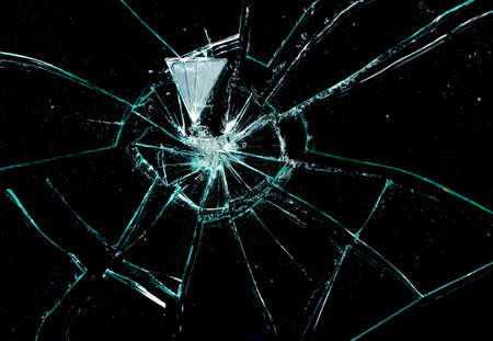 broken glass on a black background Stock Photo - 7842667