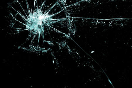 broken glass on a black background Stock Photo - 7842671