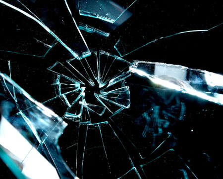 broken glass on a black background Stock Photo - 7842669