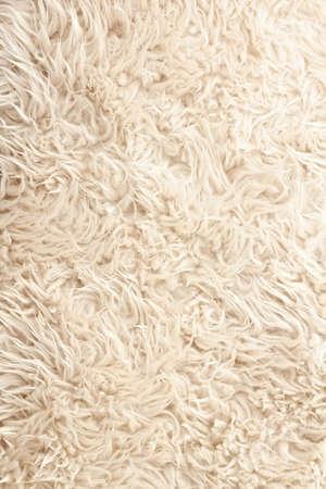 Witte gekruld schapen bont textuur als achtergrond