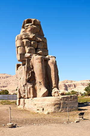 Giant statue near the Kings Valley, Luxor, Egypt