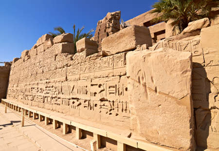 Ruins of the Karnak temple in Luxor, Egypt photo