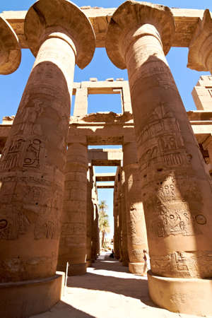 Great hypostyle hall in ancient temple of Amun at Karnak, Egypt Stock Photo - 11306117