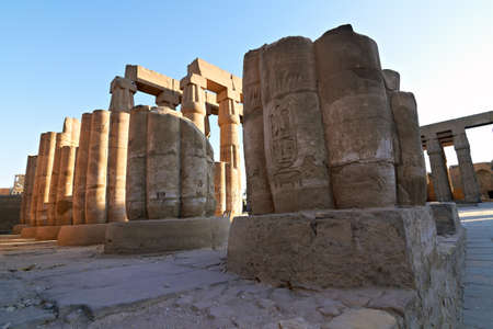 Architectural detail of ancient Luxor Temple in Egypt at dawn Stock Photo - 11566995