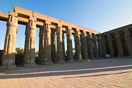 Processional Colonnade of Amenhotep III at dawn, Luxor Temple, Egypt Stock Photo - 11566983