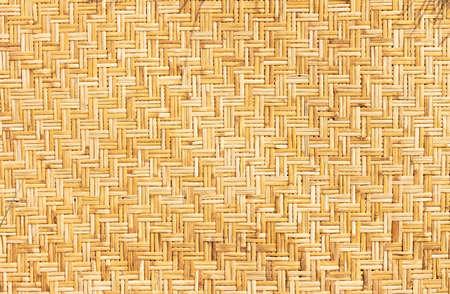 wickerwork: Weaved straws of palm leaves as horizontal background