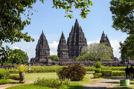 Prambanan tempel in de buurt Yogyakarta op het eiland Java, Indonesië Redactioneel