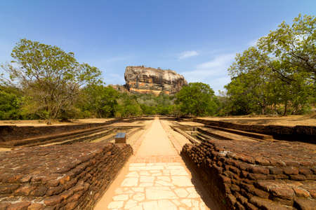 Oude fort en paleis op hoge Lion Stockfoto