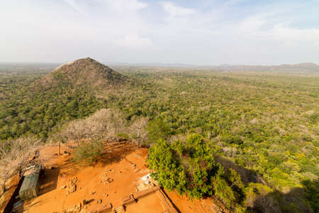 View on surrounding landscapes from Sigiriya Lion