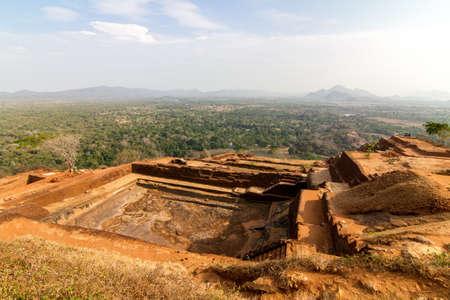 Ruins on top of Sigiriya Lion photo