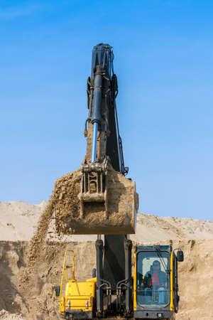 Yellow Excavator work at Construction Site Stock Photo - 20922421