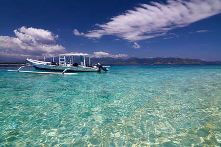 indonesia culture: Local Traditional boat. Gili Meno, Lombok, Indonesia