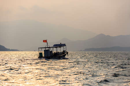 Local Boat At Subset in Nha Trang central Vietnam Stock Photo