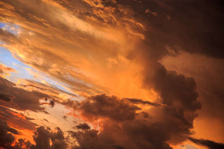 sky and clouds: Magic Unreal Colorful Sunrise. Horisontal Stock Photo