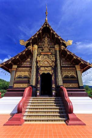 royal: Royal Flora Ratchaphruek - front view of Royal Pavilion, vertical image Stock Photo