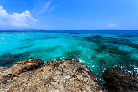 Tropical beach at Koh Maiton island, Phuket,Thailand Stock Photo