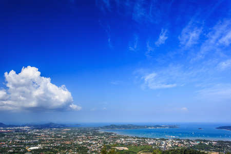View from Big Buddha, Taken from high point, Phuket, Thailand Stock Photo