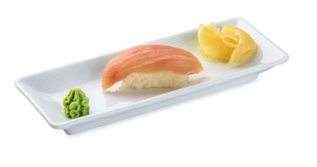 Sushi with marlin Isolated on white background