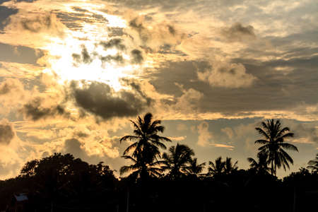 Wonderful Dramatic Sunset at the Beach, Tangalle, Sri Lanka