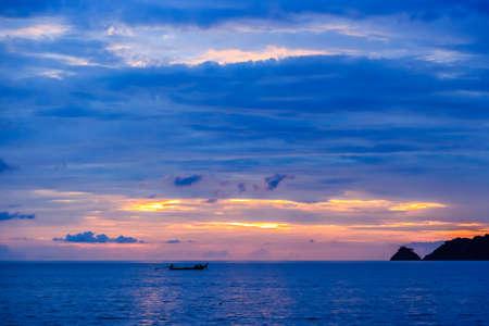 Dramatic Sunset at Kalim beach, Phuket, Thailand