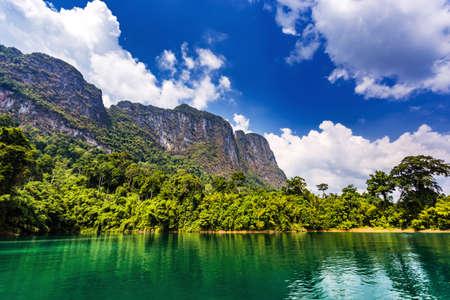 Khao Sok National Park, Cheow Lan Lake, Surat Thani, Thailand at sunny day