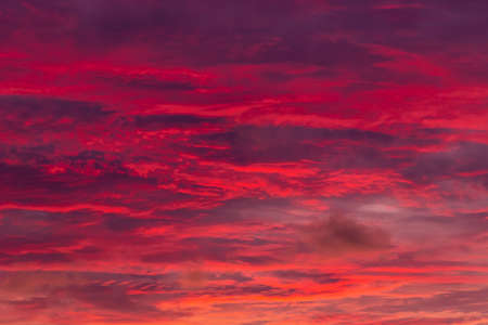 Magic Unreal Colorful Sky at Sunrise. Thailand Banco de Imagens