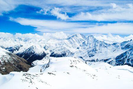 elbrus: Mountain background, beautiful mountain landscape in Elbrus, Russia, Georgia