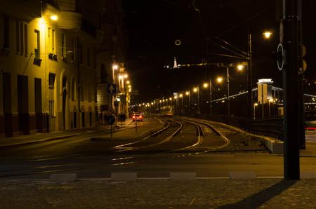 nightime: Night cityscape in Budapest Stock Photo