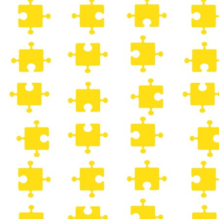 Seamless pattern of bright yellow pazzle parts. Vector illustration
