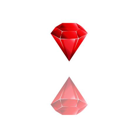 rubin: Colorful and shiny Rubin red, Vector Illustration EPS10. Geometric design for business presentations.Vector diamont logo.