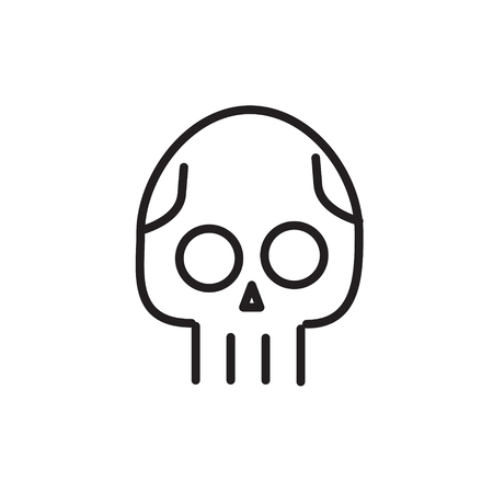 Skull line icon. Danger concept illustration. Modern line icon design. Modern icons for mobile interface. Vector illustration.