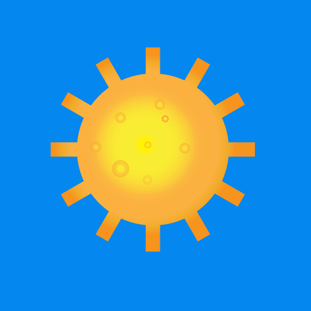 Sun burst logo icon. Sun, summer, nature, sky, summer. Sunshine sun logo. Sun icon- vector illustration Ilustracja