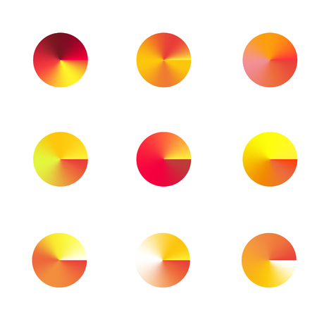 chromatic colour: 9 Vector brightly colored blue winter gradient circles for your design. Vector illustration