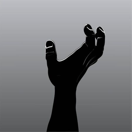 Cartoon zombie hands. Vector clip art illustration. Hand drawn Halloween Zombie Horror illustration for your design.