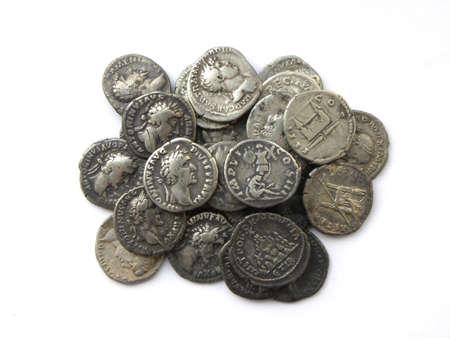 antiquity: denarius              Stock Photo