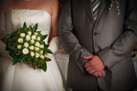 fiancee: groom and fiancee