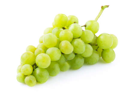 Bunch of ripe grapes isolated on white. photo