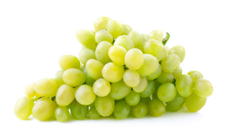 Bunch of ripe grapes on a branch. photo