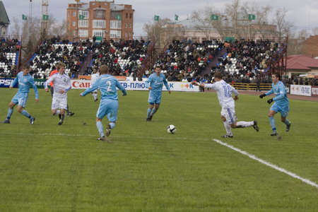 delirious: TOMSK, RUSSIA - APRIL 5: Football match Championship of Russia among Tom(Tomsk) - Zenit (St.Petersburg), April 5, 2009 in Tomsk, Russia.