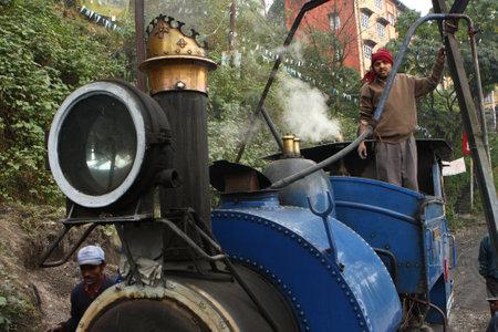 nicknamed: DARJEELING, INDIA - DECEMBER 3: The Darjeeling Himalayan Railway, nicknamed the Toy Train, is a 2 ft (610 mm) narrow-gauge railway from Siliguri to Darjeeling, December 3, 2008 in Darjeeling, India.